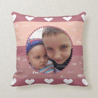 Cute Hearts & Love Valentine Photo Frame Pillows