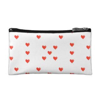 Cute Hearts Motif Pattern Cosmetic Bag