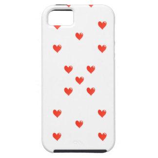 Cute Hearts Motif Pattern iPhone SE/5/5s Case