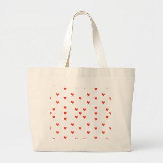 Cute Hearts Motif Pattern Large Tote Bag