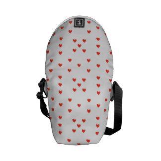 Cute Hearts Motif Pattern Messenger Bag