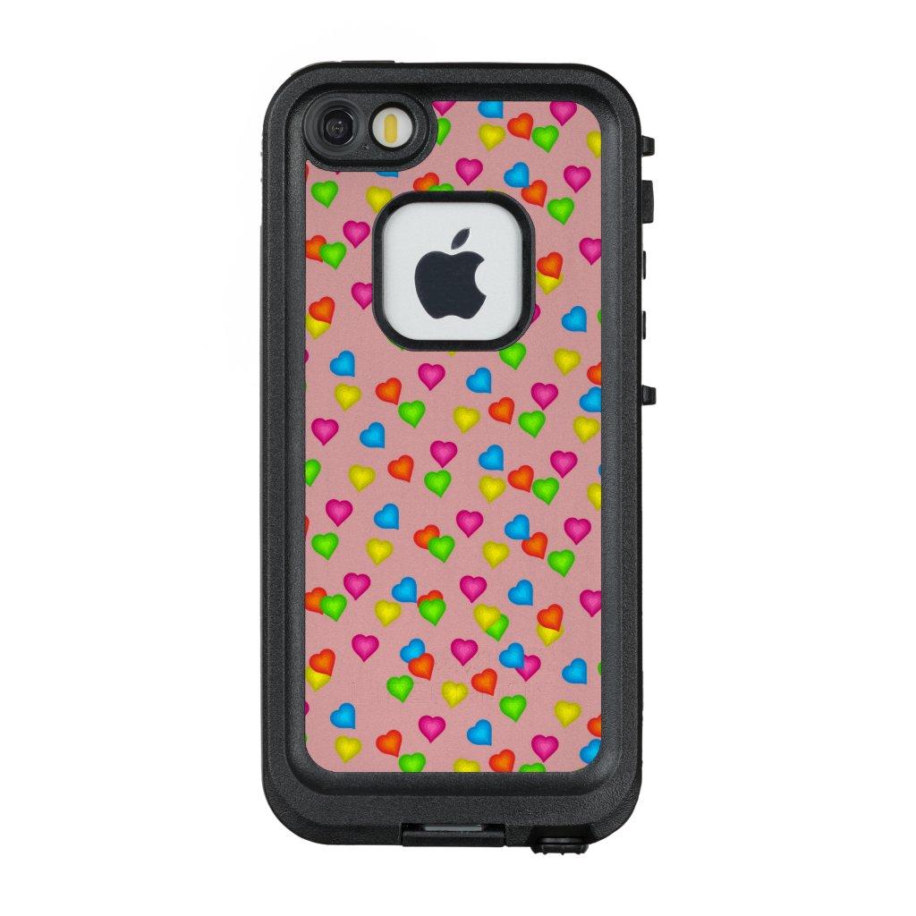 Cute Hearts Pattern LifeProof Case