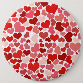 Cute Hearts Pinback Button
