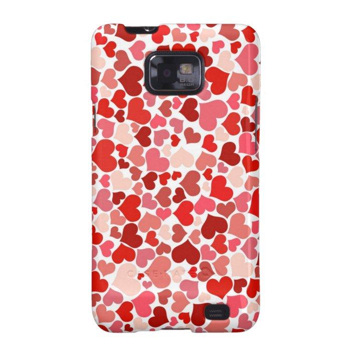 Cute Hearts Samsung Galaxy SII Case