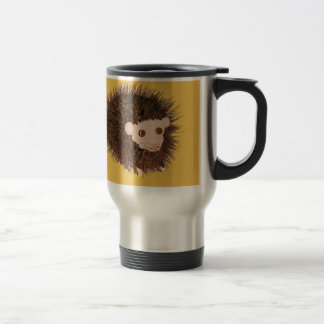 Cute hedgehog add name or other text travel mug