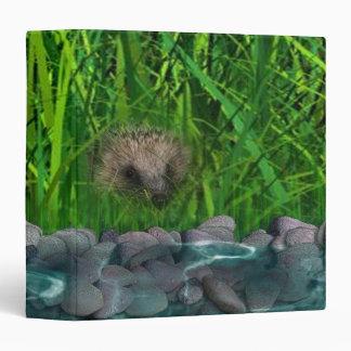 Cute hedgehog binder