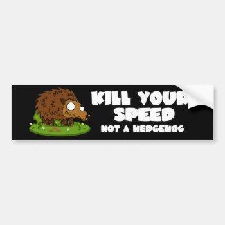 Cute Hedgehog Bumper Sticker Car Bumper Sticker