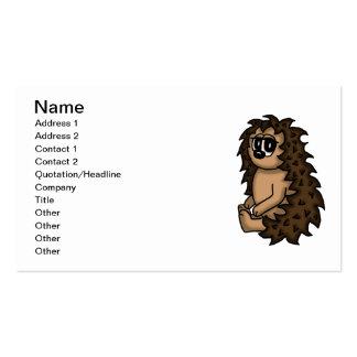 cute hedgehog business cards