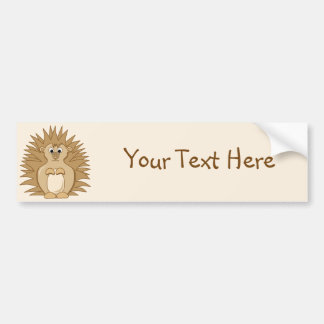 Cute Hedgehog Cartoon Animal Bumper Sticker
