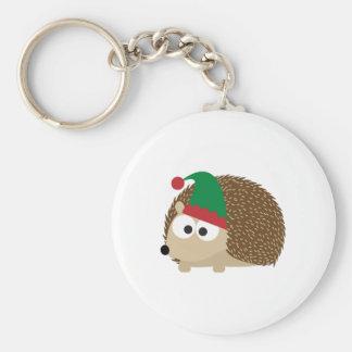 cute Hedgehog Christmas Elf Keychains