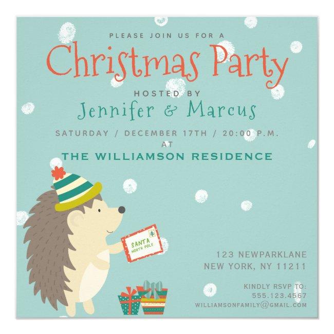 Cute Hedgehog | Christmas Party