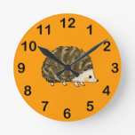 Cute hedgehog clock
