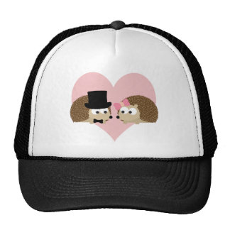 Cute Hedgehog couple Mesh Hat
