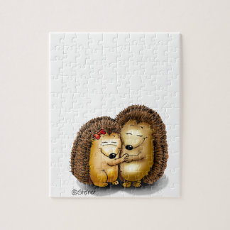 Cute Hedgehog Couple - Mr. and Mrs. Customize Puzzle