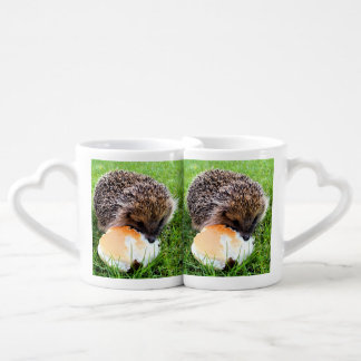 CUTE HEDGEHOG COUPLES COFFEE MUG