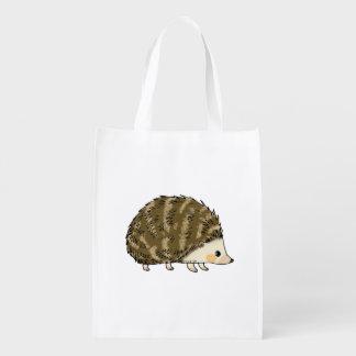 Cute hedgehog grocery bag