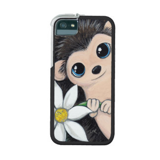 Cute Hedgehog Holding a Flower iPhone 5/5S Cover