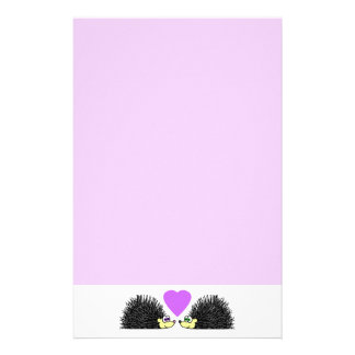 Cute Hedgehog Love Stationery - Purple