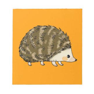 Cute hedgehog notepad