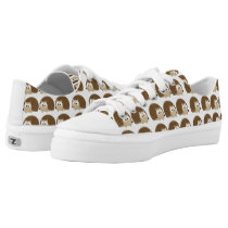 Cute Hedgehog Pattern Low-Top Sneakers