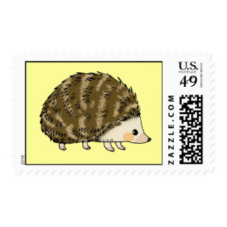 Cute hedgehog postage stamps
