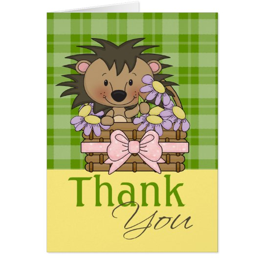 Cute Hedgehog, Thank You Card
