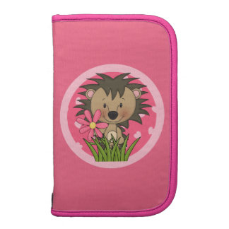 Cute Hedgehog With Flower and Hearts Organizers