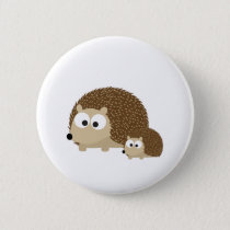 Cute Hedgehogs Button