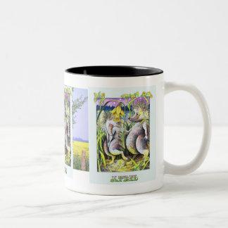Cute Hedgehogs  In Love Birthday Mug April