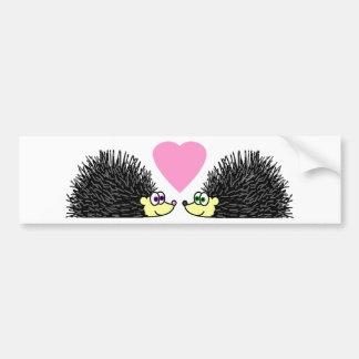 Cute Hedgehogs In Love Bumper Sticker