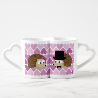 Cute Hedgehogs In Love Coffee Mug Set