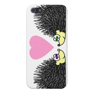 Cute Hedgehogs In Love iPhone 5 Covers