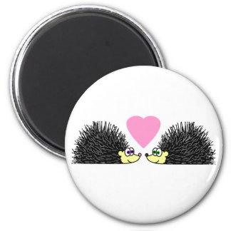 Cute Hedgehogs In Love Refrigerator Magnets