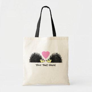Cute Hedgehogs In Love Tote Bag