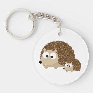 Cute Hedgehogs Acrylic Keychain