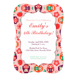 Cute Hedgie with Gift - Custom Birthday Invitation