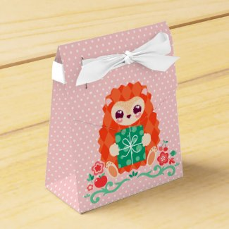 Cute Hedgie with Gift - Favor Boxes