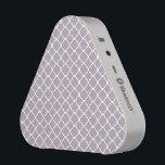 "Cute Heliotrope Gray Quatrefoil Maroccan Pattern Bluetooth Speaker<br><div class=""desc"">Cute Heliotrope Gray Quatrefoil Maroccan Pattern</div>"