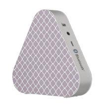 Cute Heliotrope Gray Quatrefoil Maroccan Pattern Bluetooth Speaker