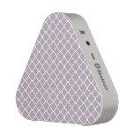 Cute Heliotrope Gray Quatrefoil Maroccan Pattern Speaker