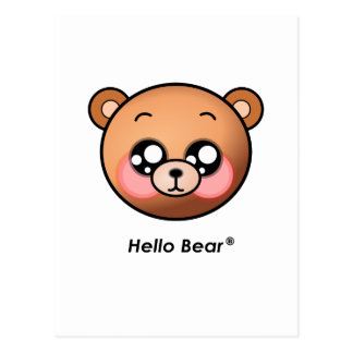 Cute Hello Bear Postcard