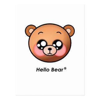 Cute Hello Bear Postcard