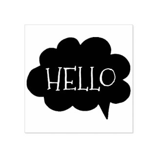 Cute Hello Cloud Talk Bubble | Art Stamp