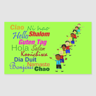 Cute Hello In Many Languages Sticker
