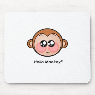 Cute Hello Monkey with big eyes Mousepads