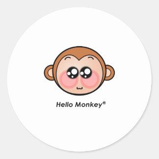 Cute Hello Monkey with big eyes Sticker