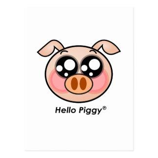 Cute Hello Piggy Postcard