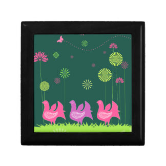"Cute hen and flowers 5"" Gift Box"