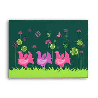 Cute hen and flowers Envelope
