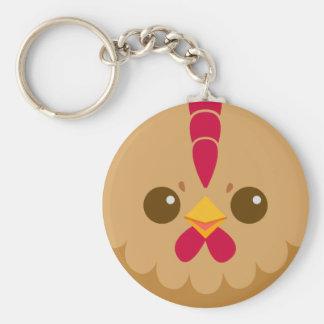 Cute Hen / Chicken Face Keychain